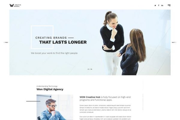WON - Clean Multipurpose HTML
