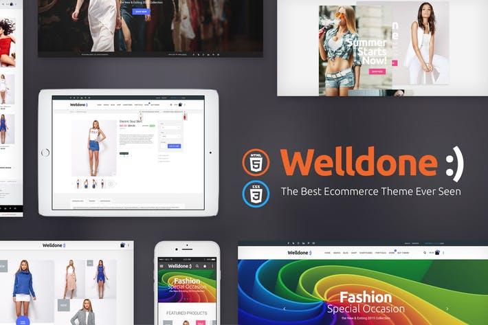 WellDone – HTML eCommerce website template