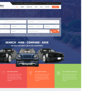 Wheel - Car Rental & Booking Responsive and Modern