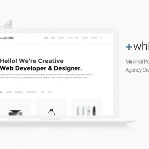 Whiteble - Minimal &Clean Portfolio, Agency, Shop