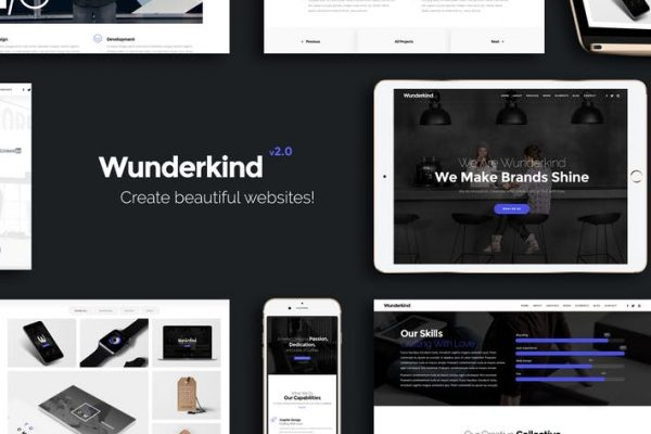 Wunderkind - One Page Parallax HTML5 Template