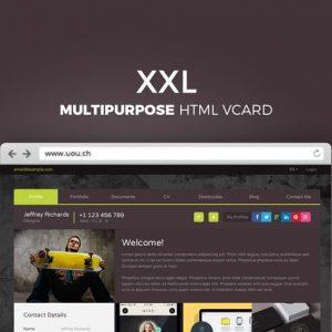 XXL - Multipurpose HTML vCard