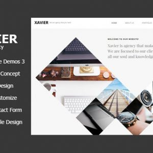 Xavier - Portfolio and Agency HTML theme
