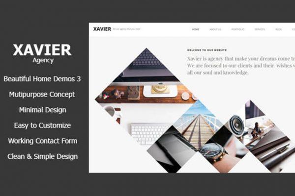 Xavier - Portfolio and Agency HTML theme