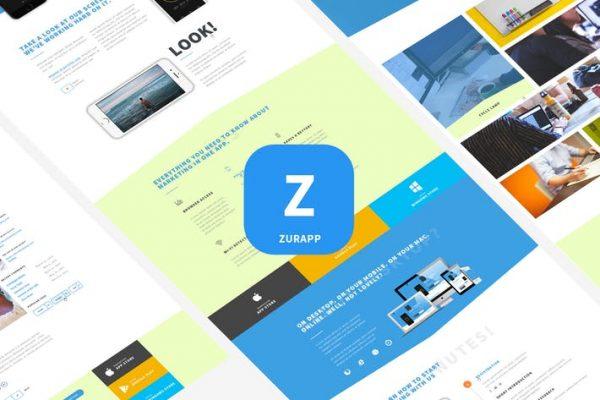 ZurApp - Multiconcept App Showcase Template