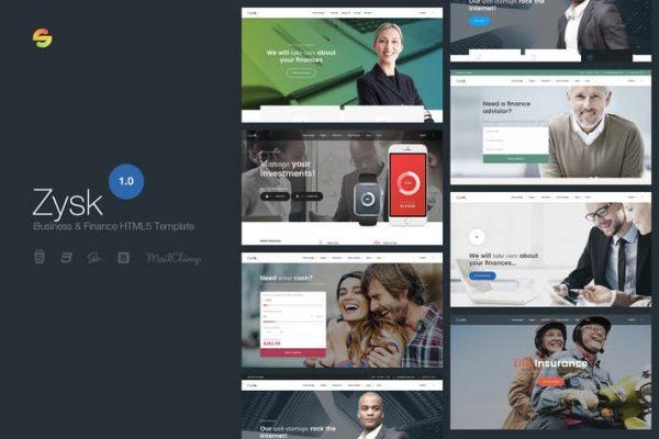 Zysk - Business & Finance HTML5 Template