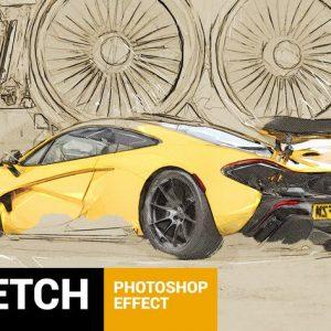 Architectum - Sketch Draft Photoshop Action