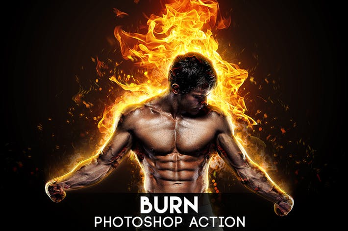 Burn Photoshop Action