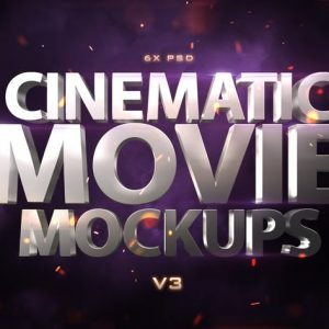 Cinematic 3D Movie Mockups V3