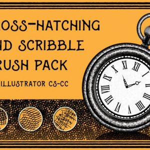 Cross-Hatching and Scribble Brush Pack