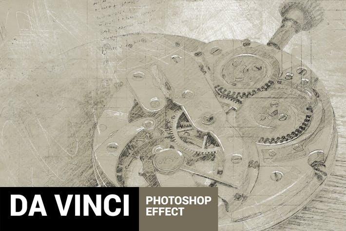 Da Vinci - Hand Drawn Sketch Photoshop Action