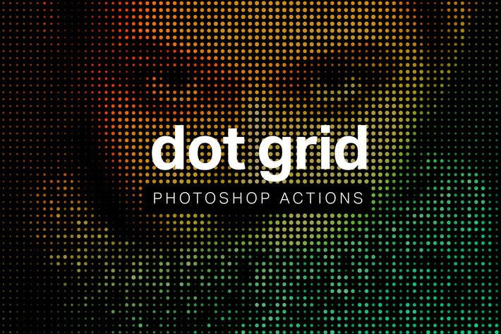 Dot Grid Photoshop Actions