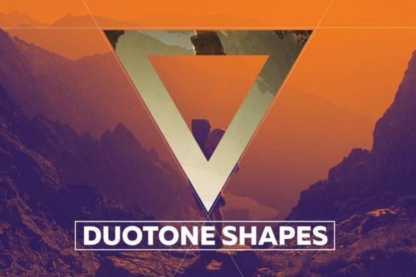 Duotone Geometric Shapes