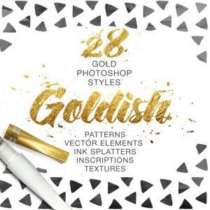 Goldish Kit. For Photoshop+Extras