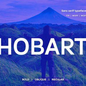 Hobart Minimal Typeface + Webfonts v2.0