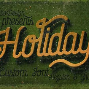 Holiday - Creative Script Font