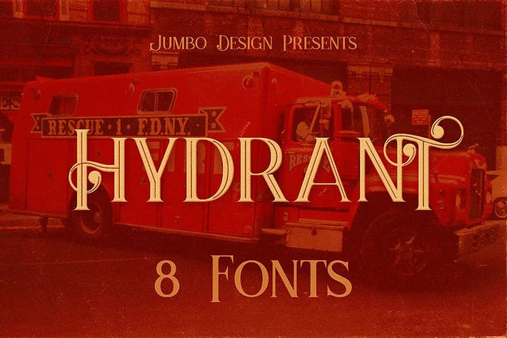 Hydrant - Vintage Style Font