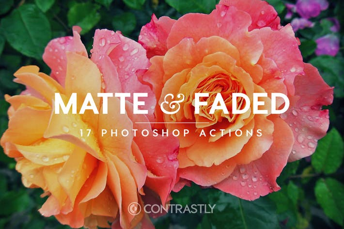 Matte & Faded Photoshop Actions