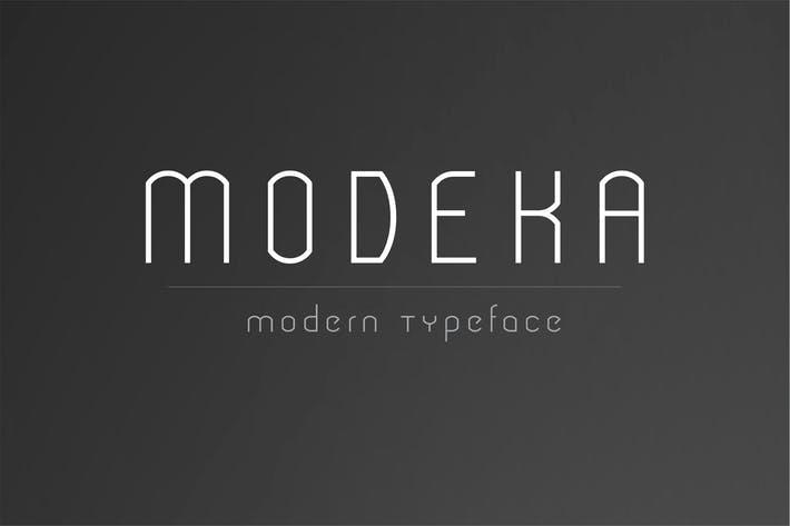 Modeka - Modern Font