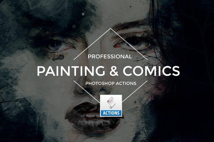 Painting & Comics Photoshop Actions