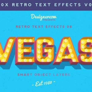 Retro Text Effects V01
