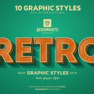 Retro Vintage Text Styles