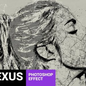 Skeletum - Plexus Art Photoshop Action
