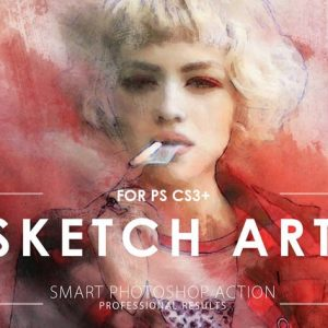 sketch art potoshop action