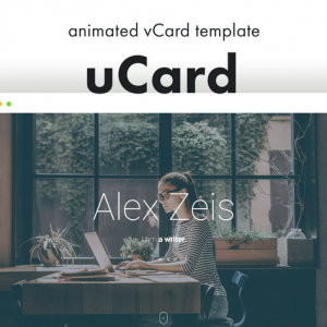 uCard - Animated vCard Template