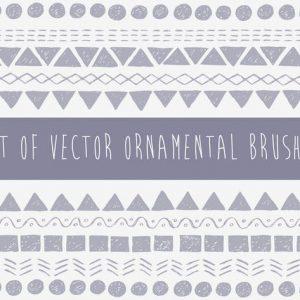 Vector Pattern Brushes Set