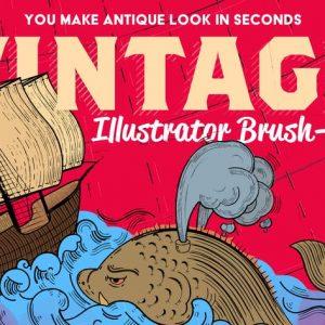 Vintage Illustrator Brush-Kit
