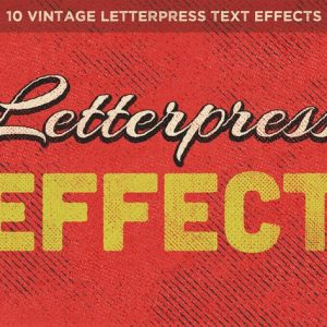 Vintage Letterpress Text Effects Vol. 1