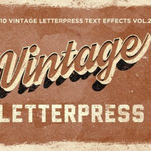 Vintage Letterpress Text Effects Vol. 2