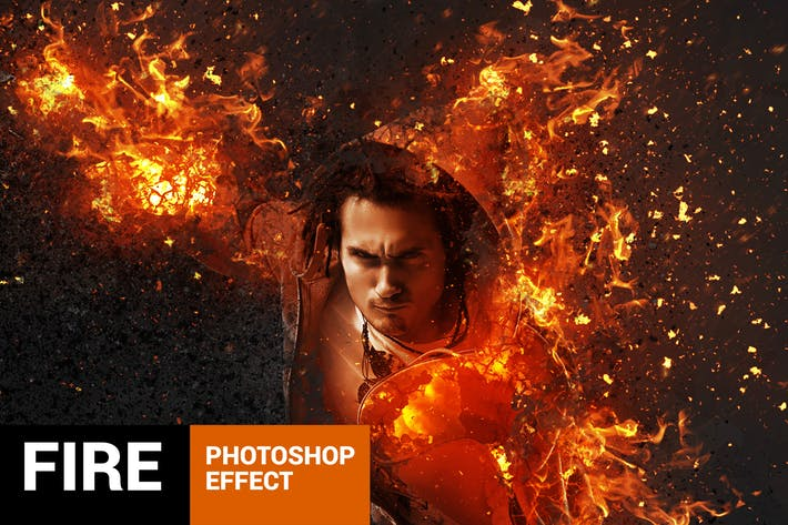 Vulcanum - Fire & Ashes Photoshop Action