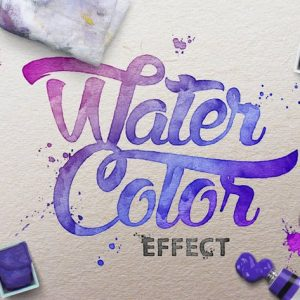 Watercolor Scene Text Mockups
