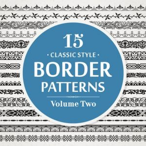 15 Vector Border Patterns Classic Style Volume 2