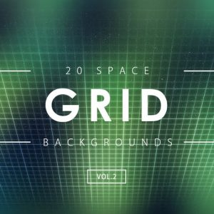 20 Space Grid Backgrounds Vol. 2