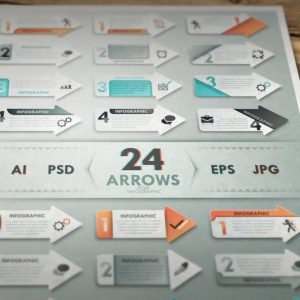 24 Arrows For Infographic