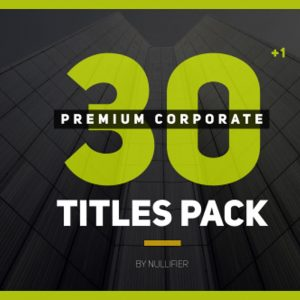 30+1 Premium Corporate Titles Pack