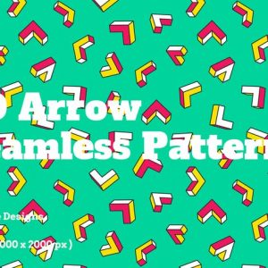 3D Arrow Seamless Patterns