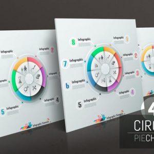 4 Circle Pie Charts