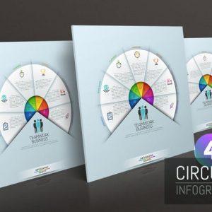 4 Circular Infographic Templates