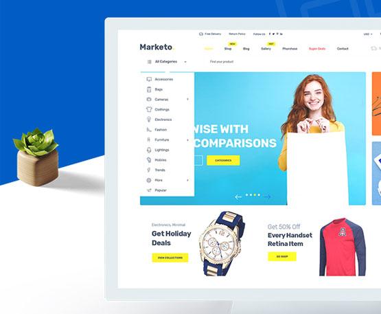 Marketo - ECommerce & Multivendor A Woocommerce WordPress Theme