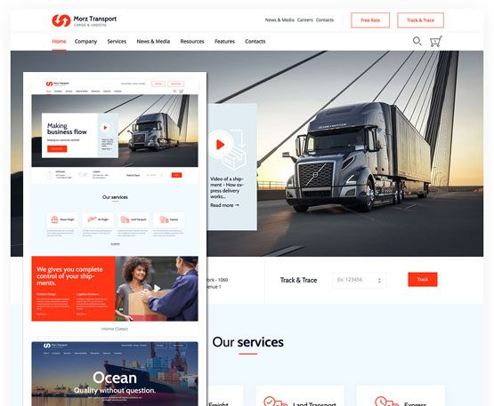 Morz - Transport Cargo Logistic WordPress