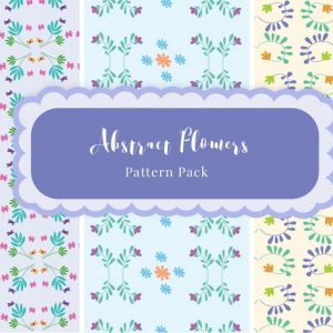 Abstract Flower Patterns Pack