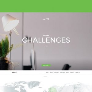 Ante - The Ultimate WordPress Parallax Theme
