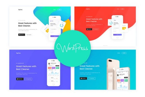 Aprimo - Mobile & App Landing WordPress Theme