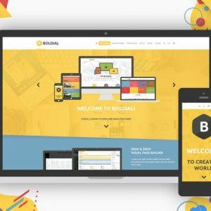 Boldial WP - Flat Creative Theme with 3D Portfolio