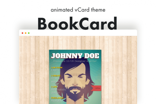 BookCard - 3D Folded vCard WordPress Theme