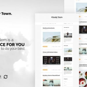 Cloudy Town - Clean Minimal Blog WordPress Theme